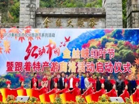 金丝峡红叶节开幕,跟着商南特产鹿城水晶游商洛
