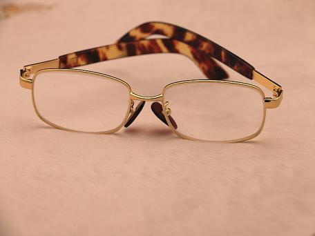 男款玳瑁水晶眼镜958