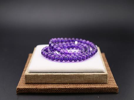 紫晶手链三圈758