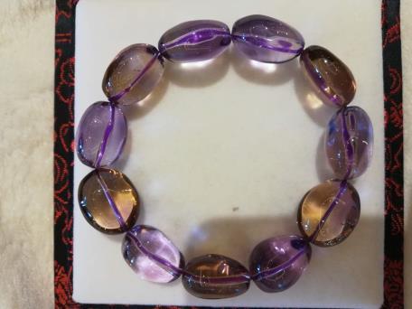 紫黄晶手串髓形1680