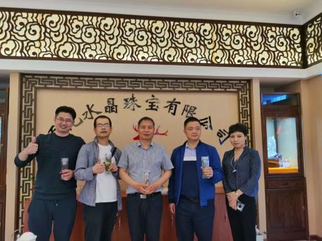 陕西省珠宝玉石首饰行业协会领导一行来我公司考察商洛水晶产业发展